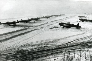 Snow at Waddington, 1 March 1944. From the Waddington Collection, RAF Waddington Hertiage Centre