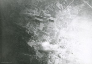 Marignane, well and truly under attack. Photo: The Waddington Collection, RAF Waddington Heritage Centre