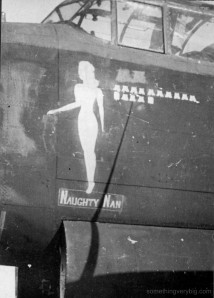 JA901 - Naughty Nan - at Waddington in happier times. Photo from the Waddington Collection, courtesy RAF Waddington Heritage Centre