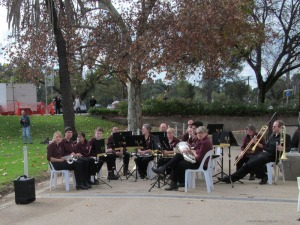 The Marion City Band at the Bomber Command Ceremony in Adelaide