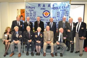 Bomber Command veterans in Melbourne, June 2014. Robyn Bell, Committee convenor, front left. Photo: Ron Ledingham