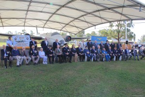 Group photo of Bomber Command veterans at Amberley