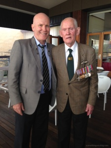 Ron Hickey DFC with his son David