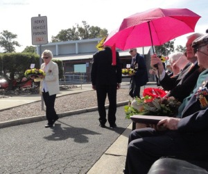 Ethel Braun - widow of 467 Sqn wireless operator William Braun - on her way to lay a wreath