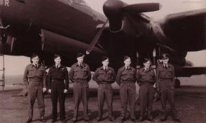The Kingsford-Smith/Kobelke crew at Waddington. Photo courtesy Richard Kobelke