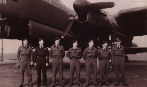 The Kingsford-Smith/Kobelke crew at Waddington. Photo courtesy Richard Kobelke