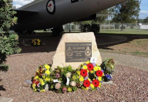 The Australian Squadrons memorial following the service