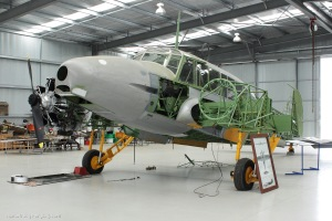 The Nhill Aviation Heritage Centre Avro Anson, undergoing restoration in their brand new hangar