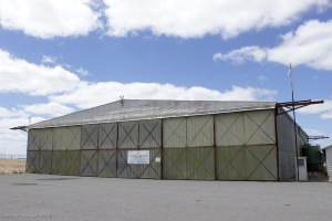 The Bellman Hangar at Nhill Airfield; now the home of the Wimmera Aeroclub