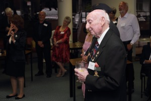 Vic Leigh of the Royal Air Forces Association (Melbourne Branch). He is a veteran from an RAF Mosquito squadron but served in Australia and the Pacific, and so very modestly refused to appear in the group photograph. Lovely bloke though!