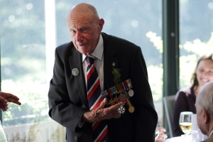 Bill Purdy showing off his Legion d'Honneur