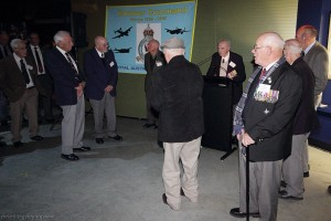 Bomber Command veterans gather to hear Albert Wallace speak