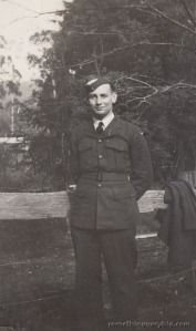 Two photos of Arthur Atkins as trainee aircrew copy